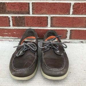 Sperry Top Sider Brown Leather Boat Shoes 11.5 M